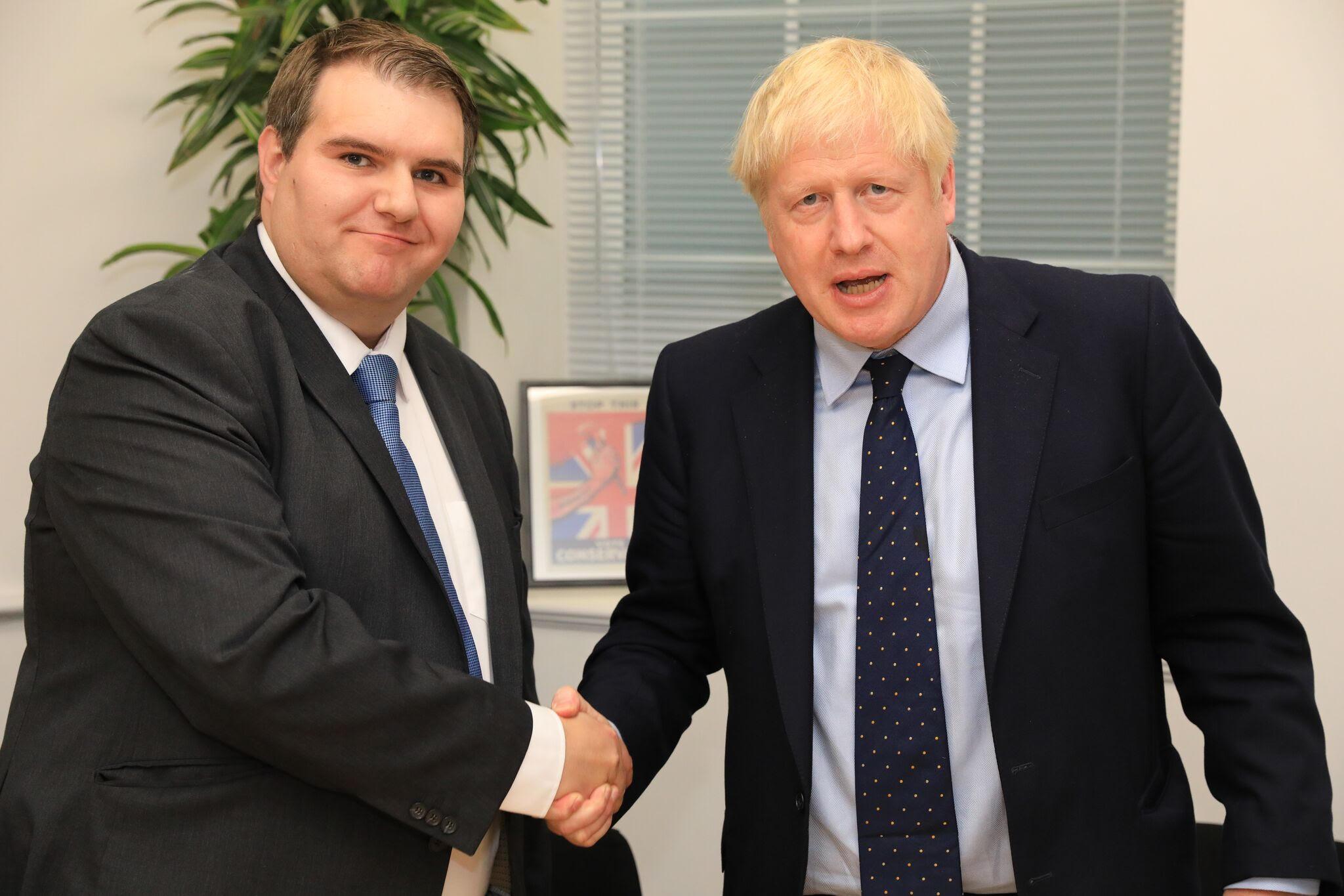 Jamie Wallis with Boris Johnson